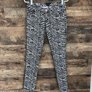 9 Tripp NYC Zebra Print Skinny Jeans